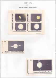 SCOTLAND - BERNERA - 1981 - Planets - 4v Perf, Min, D/L Sheets - MLH