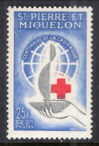 St. Pierre and Miquelon #367 MNH CV$12.00 Red Cross Centenary [144719]