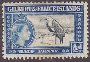 Gilbert & Ellice Islands 61 Great Frigate Bird 1956