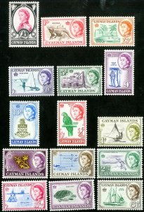 Cayman Islands Stamps # 153-67 MNH XF Scott Value $90.85