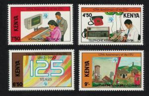 Kenya 125th Anniversary of ITU 4v SG#541-544