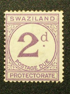 Swaziland Scott #J2 unused