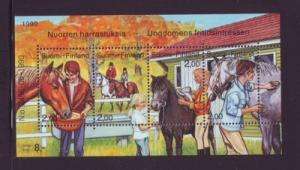 Finland Sc 826 1990 Horse Care stamp sheet mint NH