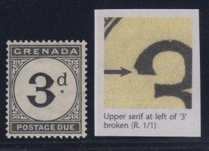 Grenada, SG D14a, MHR Upper Serif Broken variety