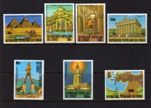 Republic Du Congo Wonders of the World MNH Partial Set Pyramids