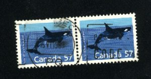 Can #1173   pair   used VF 1988 PD