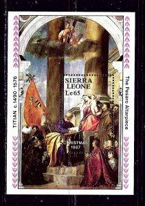 Sierra Leone 948 MNH 1987 Christmas S/S