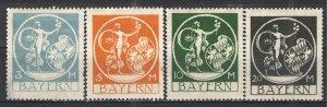German States - Bavaria 1920 Sc# 251-254 MH G/VG - Nice set