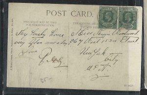 LEEWARD ISLANDS  (P2808BB)  1912 KE 1/2D PR ON PPC TO USA