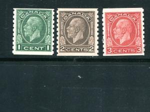 Canada #205-7 Mint VF NH -  Lakeshore Philatelics