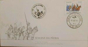 A) 1982, BRAZIL, NATIONAL WEEK, FDC, THE CRY OF IPIRANGA DE PEDRO I