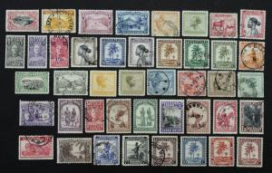 Stamps Early  Belgium Congo Collection of 43 MVLH & Used Some With Great CDS