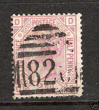 301C GREAT BRITAIN  67 PLATE 10 VFU VICTORIA