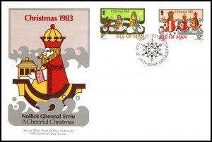 Isle of Man 252-253 Christmas U/A FDC