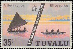 Tuvalu #16-18, Complete Set(3), 1976, Never Hinged