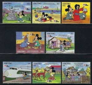 Lesotho Scott 807-814 Mint Hinged - Walt Disney Mickey Mouse