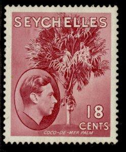 SEYCHELLES GVI SG139cb, 18c rose-carmine, M MINT. Cat £45.