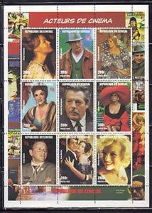Senegal MNH S/S 1347 Cinema Actors & Actresses 1998 9 Stamps