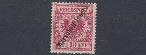 MARSHALL   ISLANDS 1897 - 00     S G  G3  10PF  CARMINE  NO GUM  CAT £80