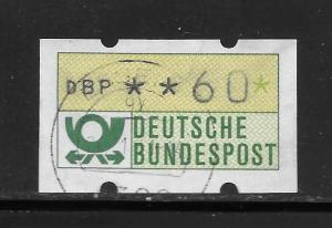 Germany Deutsche Bundespost DBP 60 ATM Stamp