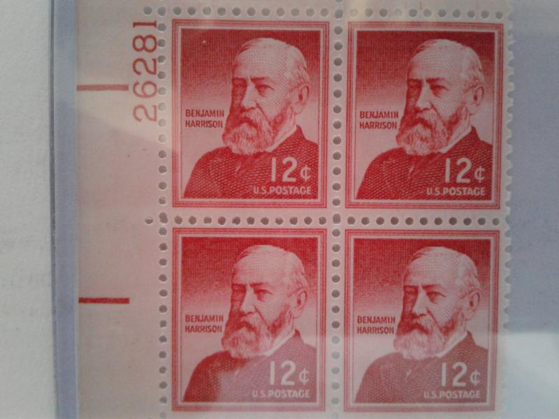 SCOTT # 1045A  PLATE BLOCK TAGGED MINT NEVER HINGED STUNNING !!