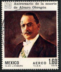 MEXICO C573, 50th Anniv of death of Pres Alvaro Obregon USED. VF. (681)