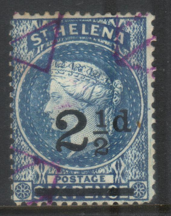 ST HELENA 1884-1894 SURCH SG40 USED