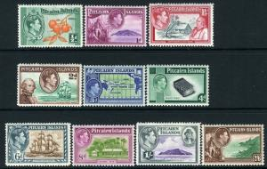 PITCAIRN ISLANDS-1940-51 Set to 2/6 Sg 1-8  MOUNTED MINT V13551