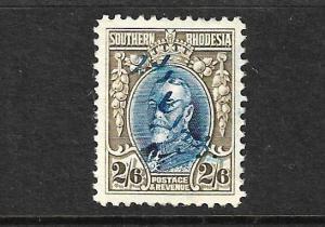 SOUTHERN RHODESIA 1931 2/6 KGV  FU SG 26a