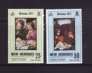 New Hebrides, British 149-150 Set MNH Christmas