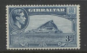 Gibraltar - Scott 111 - KGVI Pictorials -1938- MLH - Single 3d Stamp