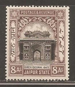 India - Jaipur  SC 32  Mint Lightly Hinged.