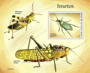 Sao Tome & Principe 2021 MNH Insects Stamps Beetles 1v S/S