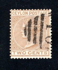 Ceylon #63,  F/VF, Used, CV $4.50 ....  1290049