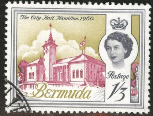 BERMUDA Scott 184 Used 1 Shilling 3p Queen  stamp 1962