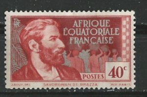 French Equatorial Africa # 45  DeBrassa 0.40fr  (1)    Unused
