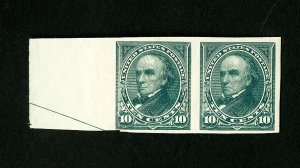 US Stamps # 258 F-VF OG NH Slight Gum Crease Catalog Value $500.00