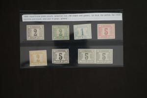 Egypt #J10-15 Plate Proof Stamp Set