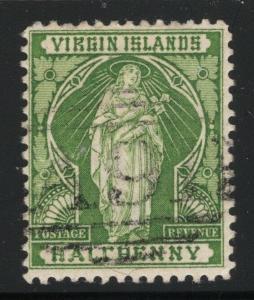 Virgin Islands 1899 ½d St Ursula 'F' Missing Crossbar Sc# 21b used