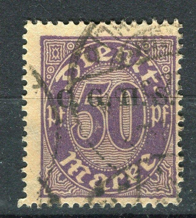 GERMANY;  1920-22 Silesia Allied Commission issue fine used 50pf. value