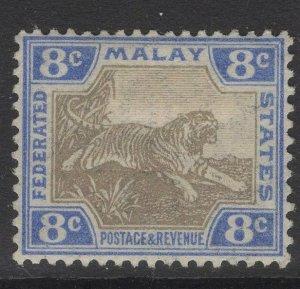 MALAYA FMS SG41 1905 8c GREY & ULTRAMARINE MTD MINT