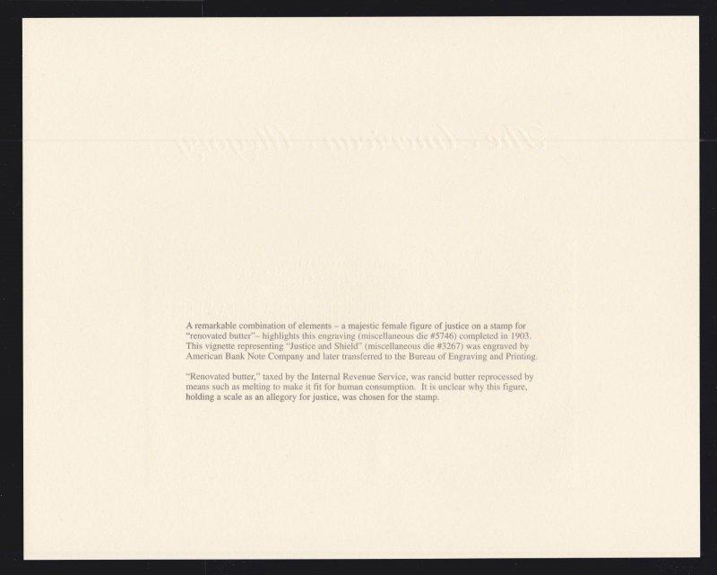 US 1997 PACIFIC 97 World Philatelic Exhibition Souvenir Card #B217 Butter Stamp