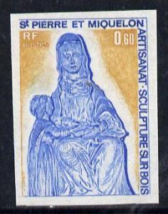 St Pierre & Miquelon 1975 Handicrafts 60c (Wood Carvi...