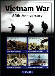 HERRICKSTAMP NEW ISSUES MARSHALL ISLAND Vietnam War, Sheetlet II