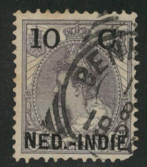 Netherlands Indies  Scott 31 used 1900 Surcharged