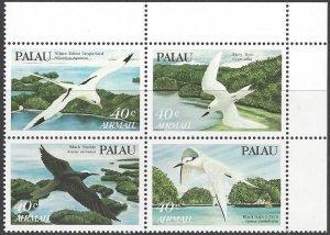 Palau C1-4  MNH Block of 4, Seabirds