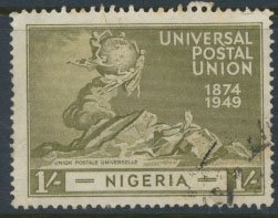 Nigeria  SG 67 SC# 78  Used UPU 1949 please see scan