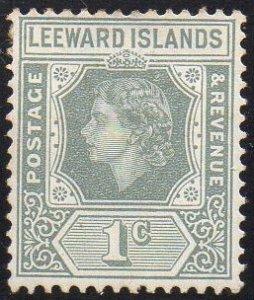 Leeward Islands 1954 1c grey MH