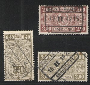 Belgium 1923-41 lot Parcel Post/Railway Stamps Used G/VG