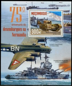 MOZAMBIQUE 2019 75th ANNIVERSARY OF THE NORMANDY LANDING D-DAY  S/SHEET MINT NH